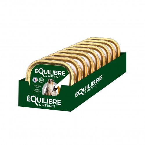 Alimentation pour chien - EQUILIBRE & INSTINCT Adult - Lot 9 x 300 g pour chiens