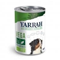 Pâtée en boîte pour chien - Yarrah Bouchées Bio Vegan en boîte - 6 x 380 g