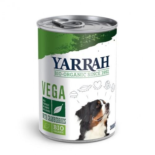 Alimentation pour chien - Yarrah Bouchées Bio Vegan en boîte - 6 x 380 g pour chiens