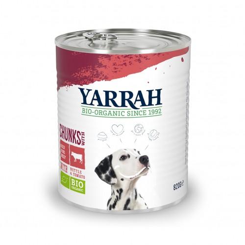 Alimentation pour chien - Yarrah Bouchées biologiques en boîte - 6 x 820 g pour chiens