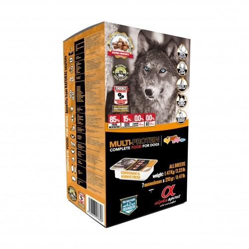 Croquettes semi-humides pour chien - Alpha spirit Aliment complet Multi-protein