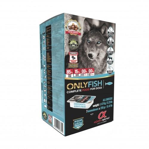 Croquettes semi-humides pour chien  - Alpha spirit Aliment complet Only Fish