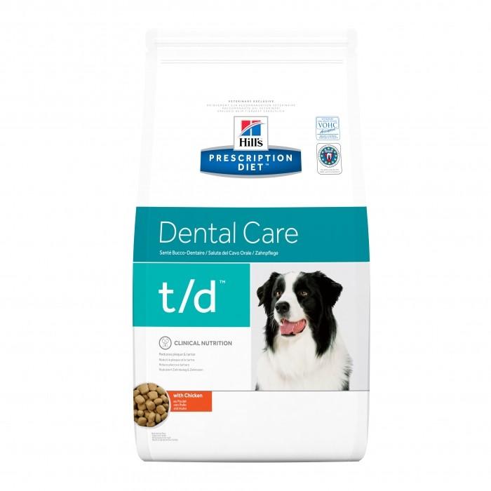 Alimentation pour chien - Hill's Prescription Diet t/d Dental Care pour chiens