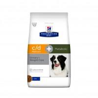Aliments médicalisés pour chien souffrant d'obésité - Hill's Prescription Diet c/d Multicare + Metabolic - Croquettes pour chien c/d Multicare + Metabolic