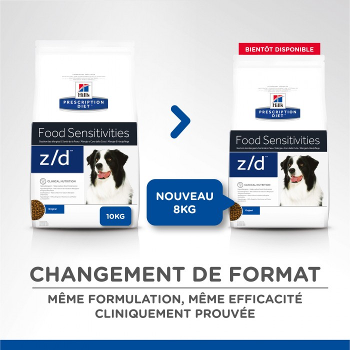 Alimentation pour chien - Hill's Prescription Diet z/d Food Sensitivities pour chiens