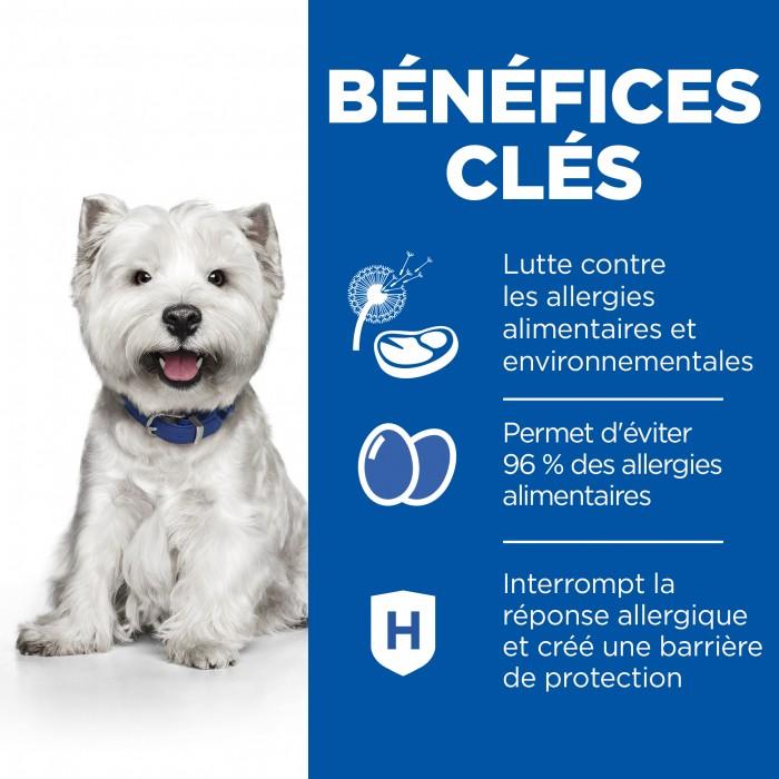Alimentation pour chien - Hill's Prescription Diet Derm Complete Mini pour chiens