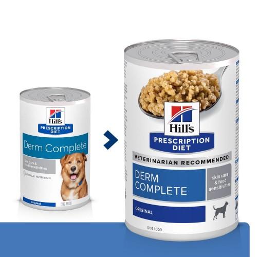 Alimentation pour chien - Hill's Prescription Canine Diet Derm Complete - Pâtée pour chien pour chiens