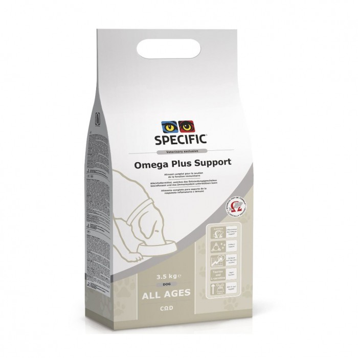 Alimentation pour chien - SPECIFIC Omega Plus support COD pour chiens