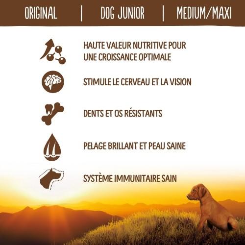 Alimentation pour chien - True Instinct Original Medium Maxi Junior pour chiens
