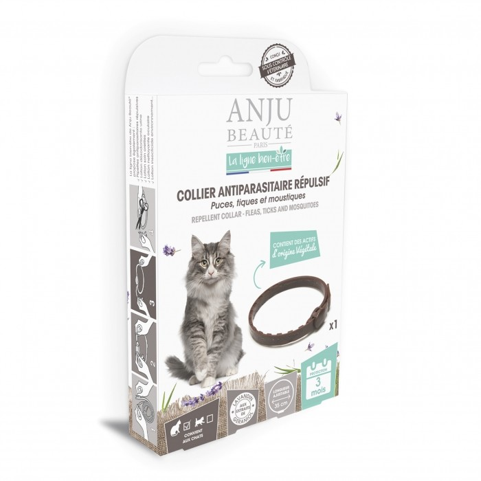 Anti puce chat, anti tique chat - Collier antiparasitaire répulsif chat pour chats