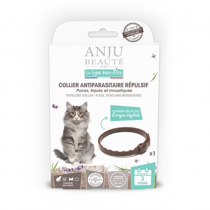 Anti puce chat, anti tique chat - Collier antiparasitaire répulsif chat pour chats
