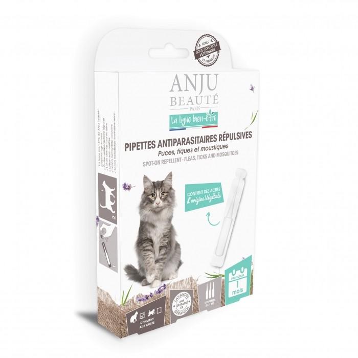 Anti puce chat, anti tique chat - Pipettes antiparasitaires répulsives chat pour chats