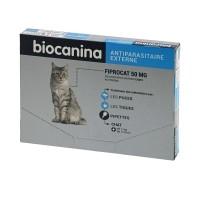Anti-puces et tiques pour chat - Pipettes Fiprocat Spot-On BIOCANINA