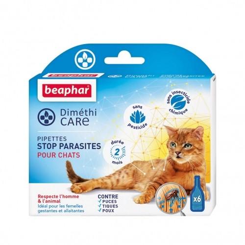 Anti puce chat, anti tique chat - Pipettes DiméthiCARE pour chats