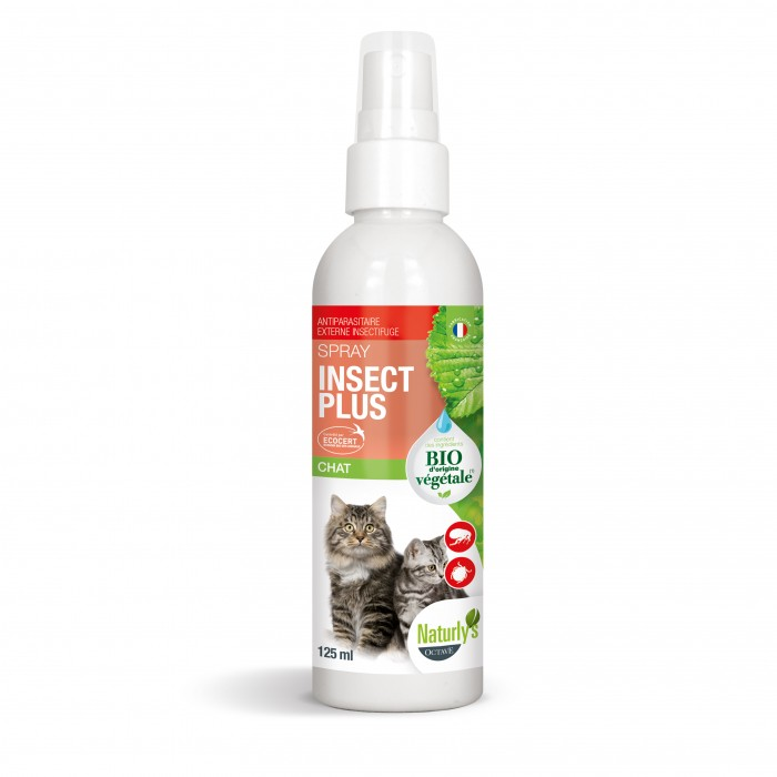 Anti puce chat, anti tique chat - Lotion Insect Plus bio pour chats