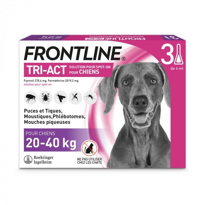 Anti puce chien, anti tique chien - Frontline Tri-act chien pour chiens