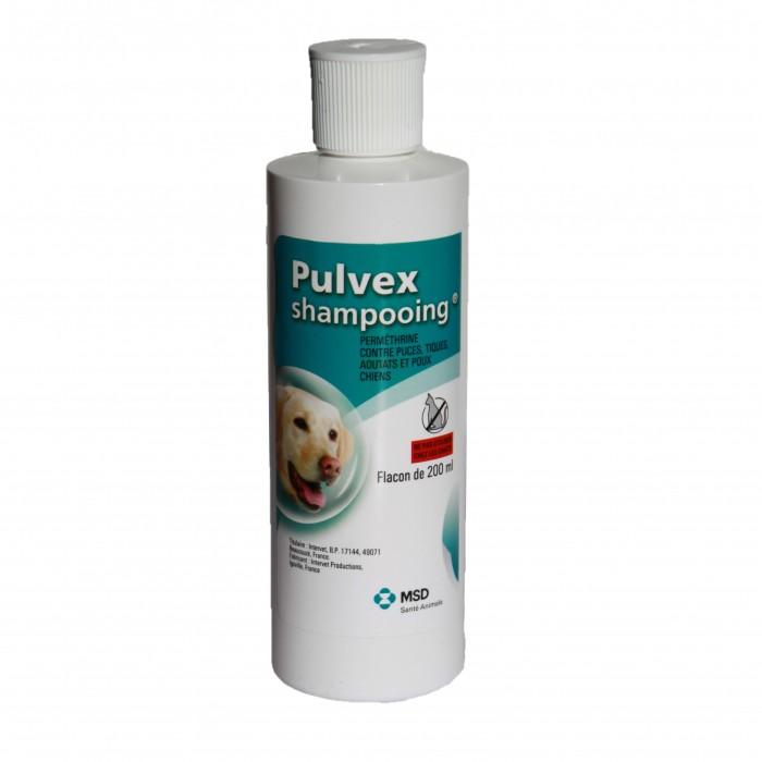 Anti puce chien, anti tique chien - Shampooing Pulvex pour chiens