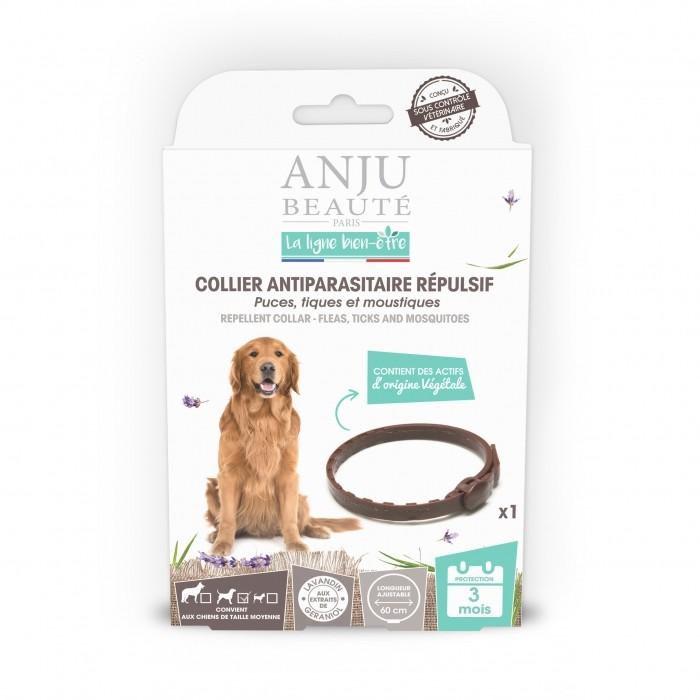 Anti puce chien, anti tique chien - Collier antiparasitaire répulsif chien pour chiens