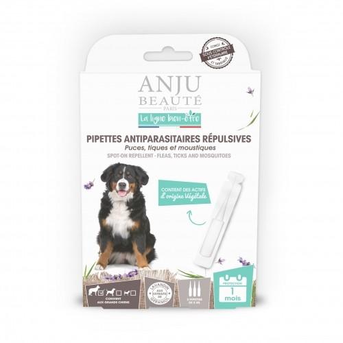 Anti puce chien, anti tique chien - Pipettes antiparasitaires répulsives chien pour chiens
