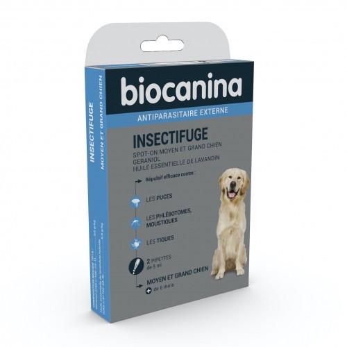 Anti puce chien, anti tique chien - Pipettes Insectifuge naturel pour chiens
