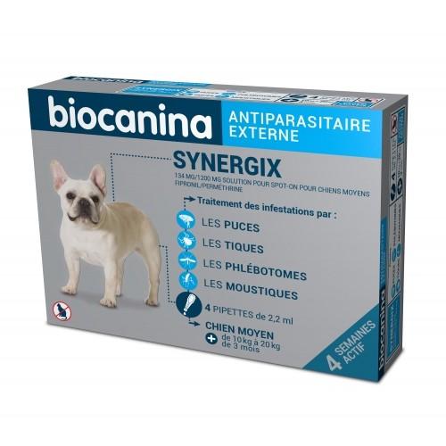 Anti puce chien, anti tique chien - Pipettes Synergix chien pour chiens