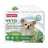 Antiparasitaire pour chien - Pipettes répulsives antiparasitaires Vetopure Beaphar
