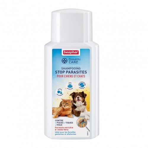 Anti puce chien, anti tique chien - Shampooing DiméthiCARE Stop Parasites pour chiens