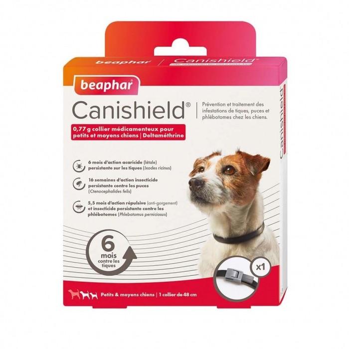 Anti puce chien, anti tique chien - Collier Canishield pour chiens