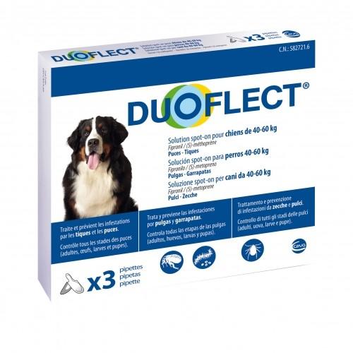 Anti puce chien, anti tique chien - Pipettes Duoflect chien pour chiens