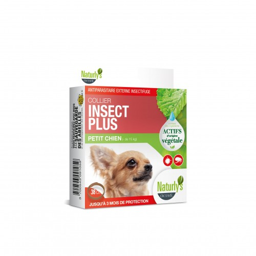Anti puce chien, anti tique chien - Collier Insect Plus pour chien pour chiens