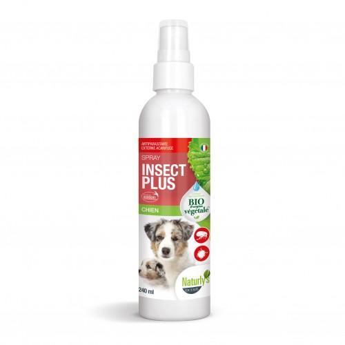 Anti puce chien, anti tique chien - Lotion Insect Plus Bio pour chiens