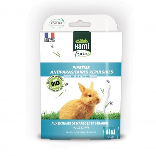 Antiparasitaire lapin et rongeurs - Pipettes Antiparasitaires Répulsives Bio - Lapin pour rongeurs