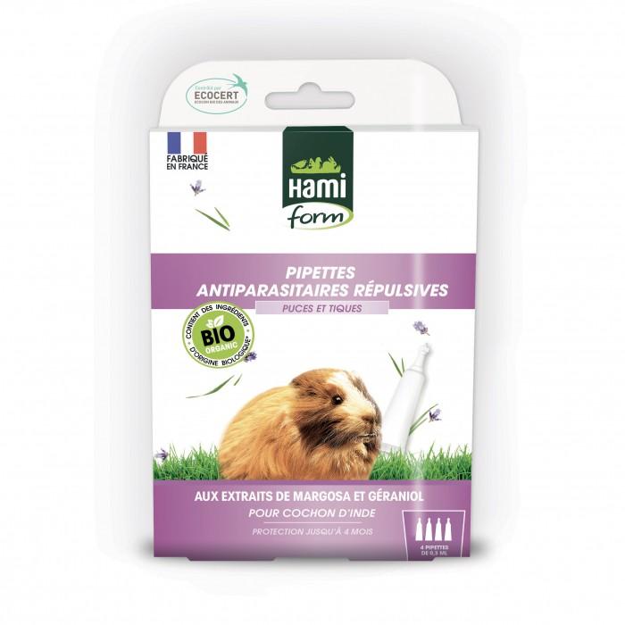 Antiparasitaire lapin et rongeurs - Pipettes Antiparasitaires Répulsives Bio - Cochon d'inde pour rongeurs