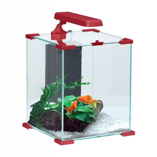 Aquarium - Aquarium CUBE Nanolife Rouge pour poissons