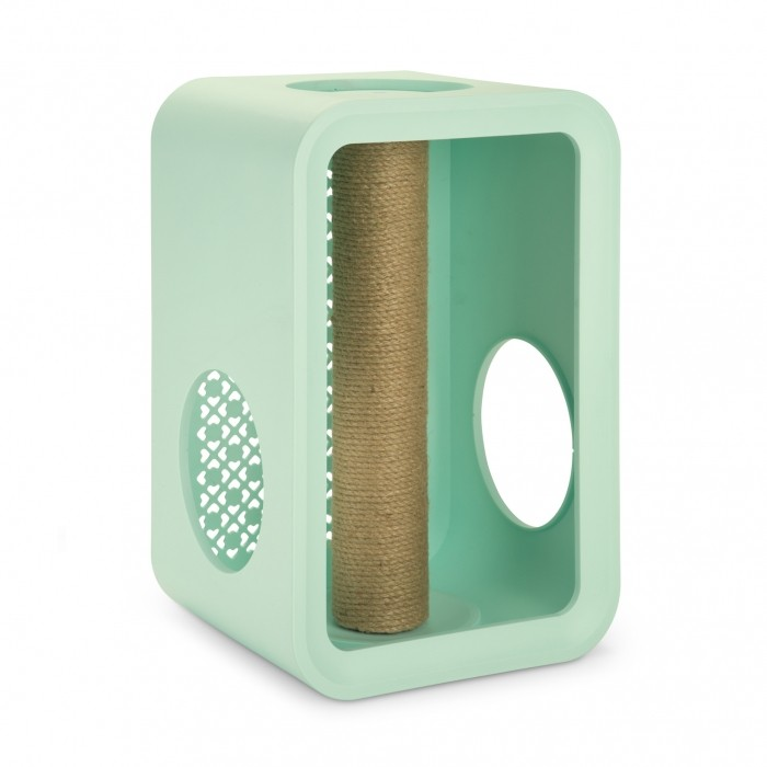 Arbre à chat et griffoir - Ensemble Cat Cubes Sleep, Dinner, Play & Scratch pour chats