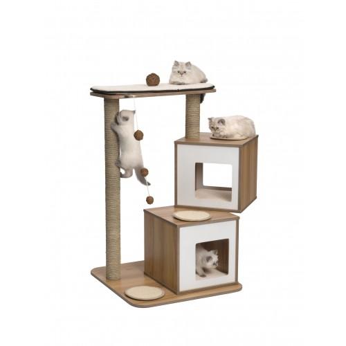 Arbre à chat et griffoir - Arbre à chat Double pour chats