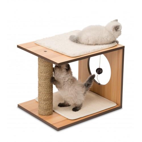 Arbre à chat et griffoir - Cube V-Stool pour chats
