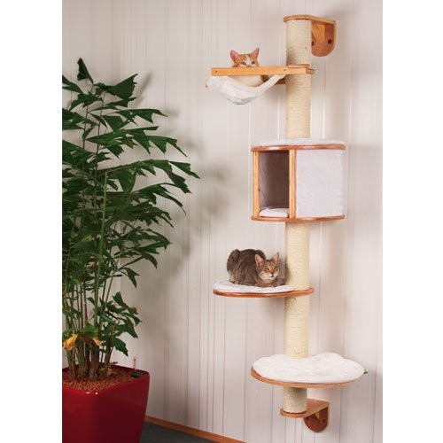 Arbre chat mural dolomit arbre chat kerbl wanimo - Arbre a chat en bois naturel ...