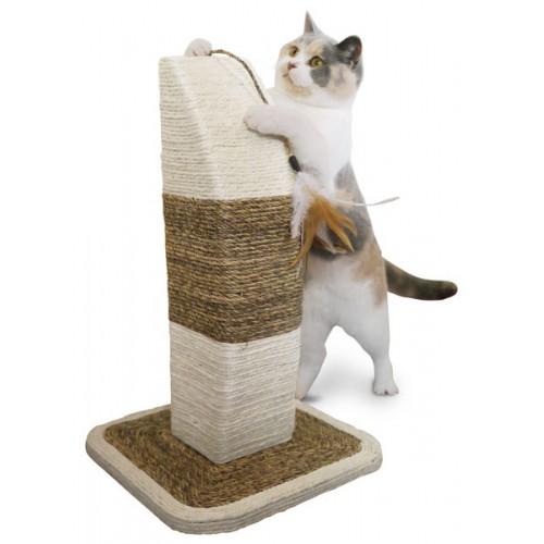 Arbre à chat et griffoir - Griffoir 100% sisal avec plumes pour chats
