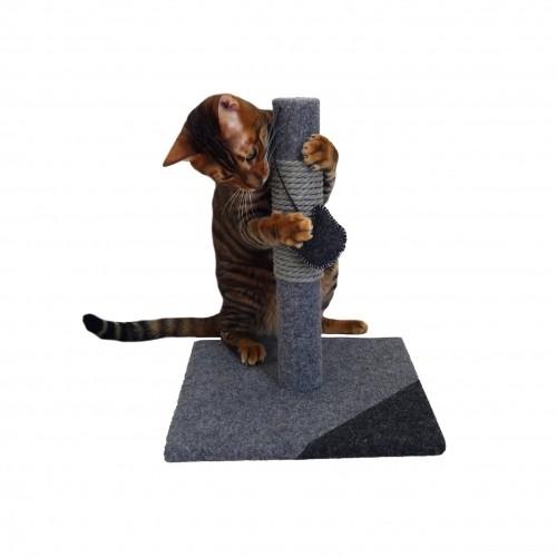 Arbre à chat et griffoir - Poteau à griffer Charcoal Felt pour chats