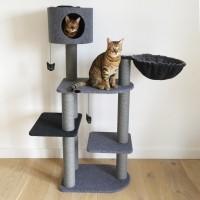Arbre à chat - Arbre à chat Charcoal Felt Cat 3Tower Rosewood