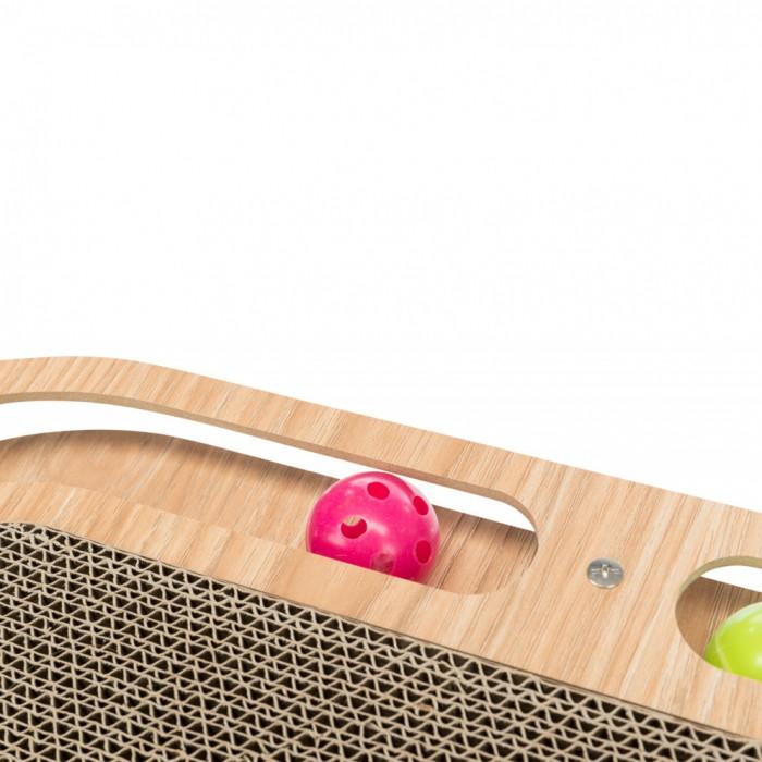 Arbre à chat et griffoir - Plaque griffoir avec cadre bois pour chats