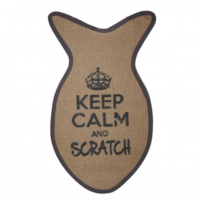Arbre à chat et griffoir - Tapis à griffer Keep Calm pour chats
