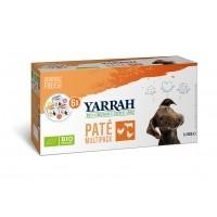 Pâtée en barquette pour chien - Yarrah Multi Pack biologique 3 saveurs - Lot de 6 x 150g