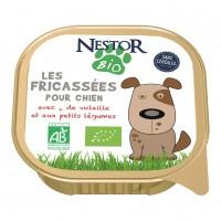 Pâtée en barquette pour chien - Nestor Bio Les fricassées pour chien