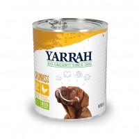 Pâtée en boîte pour chien - Yarrah Bouchées biologiques en boîte - 6 x 820 g