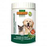 Complément alimentaire pour chiens et chats - Herbes naturelles  Biofood