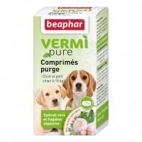 Purge aux plantes - Vermipure comprimés Purge - Chiot & petit chien Beaphar