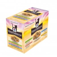 Sachet fraîcheur pour chat - HILL'S Ideal Balance Feline Adult - Lot 12 x 85 g