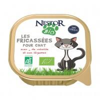 Pâtée en barquette pour chat - Nestor Bio Les fricassées pour chat